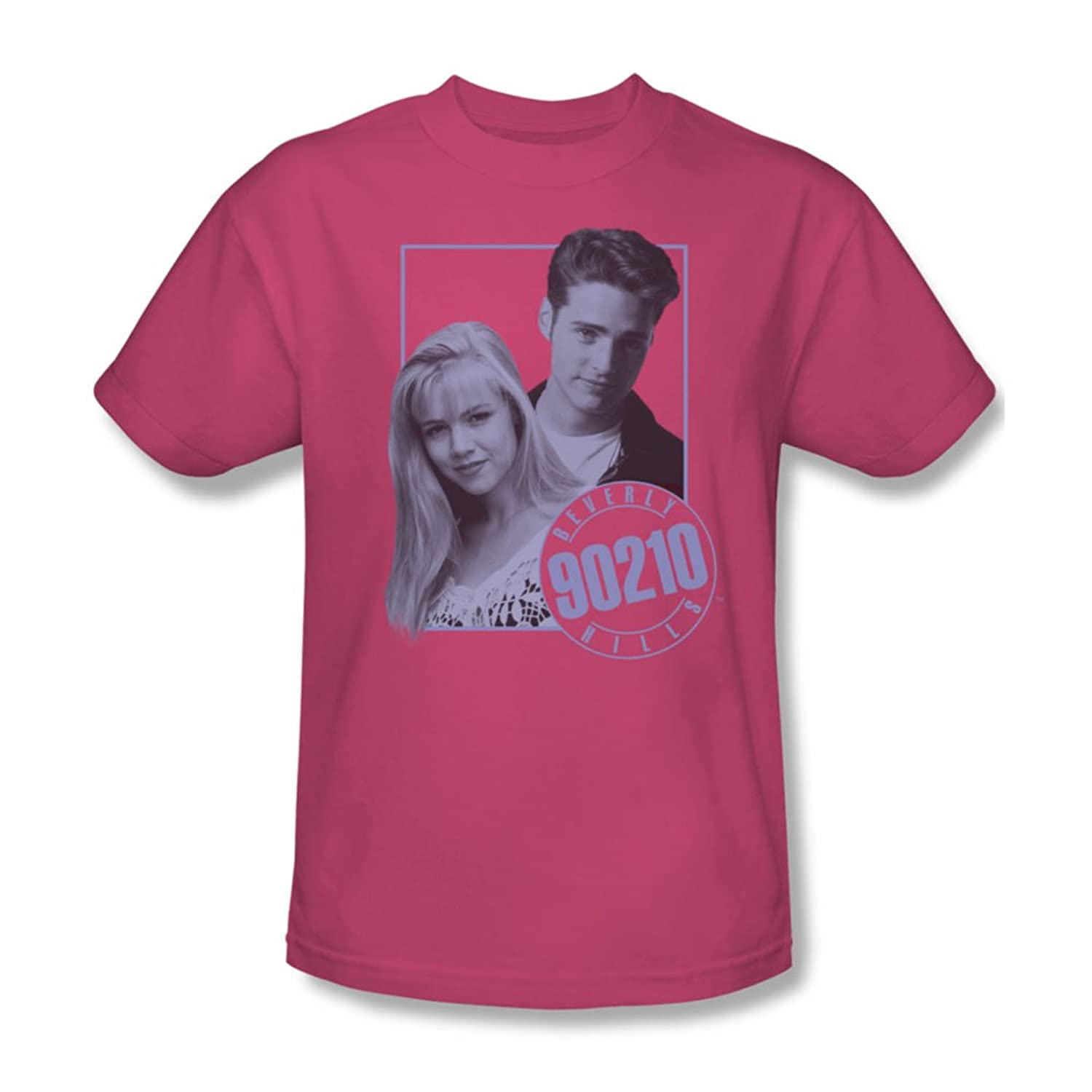 90210 - Mens Brandon & Kelly T-Shirt In Hot Pink