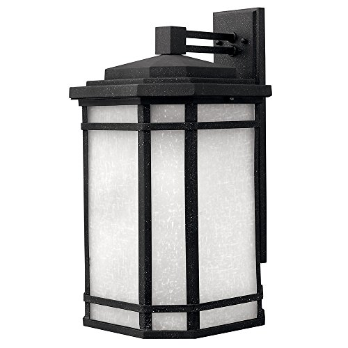 Cherry Creek Outdoor Wall Lantern in Vintage Black Energy Saving: No