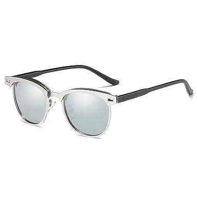 e5649b8f84f65c Rocf Rossini Semi Rimless polarisées Clubmaster lunettes de soleil pour  hommes Classique Metal rétro polarisées femmes