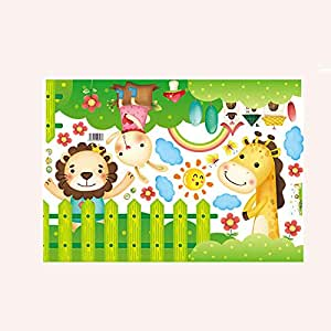 Home Corner Line Stickers Animals Bathroom Kitchen Porch Door Wall Stickers Pvc Removable Stickers