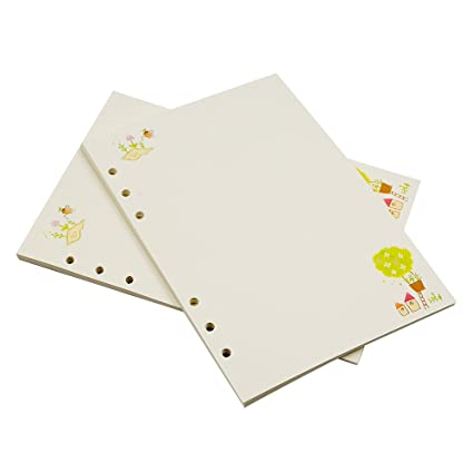 Hojas de recambio de papel estándar, para agenda, tamaño A6 ...