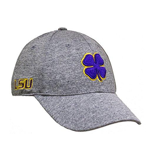 Black Clover Heather Purple/Gold/Heather LSU Premium Fitted Hat - L/XL