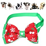 easyshop Adjustable Christmas Pet Dog Cat Bowtie Tie Christmas Snowflake Pet Collar Decoration