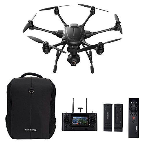 Yuneec Typhoon H Pro Bundle - Ultra High Definition 4K Collision Avoidance Hexacopter Drone with 2 Batteries, ST16 Controller, Wizard...