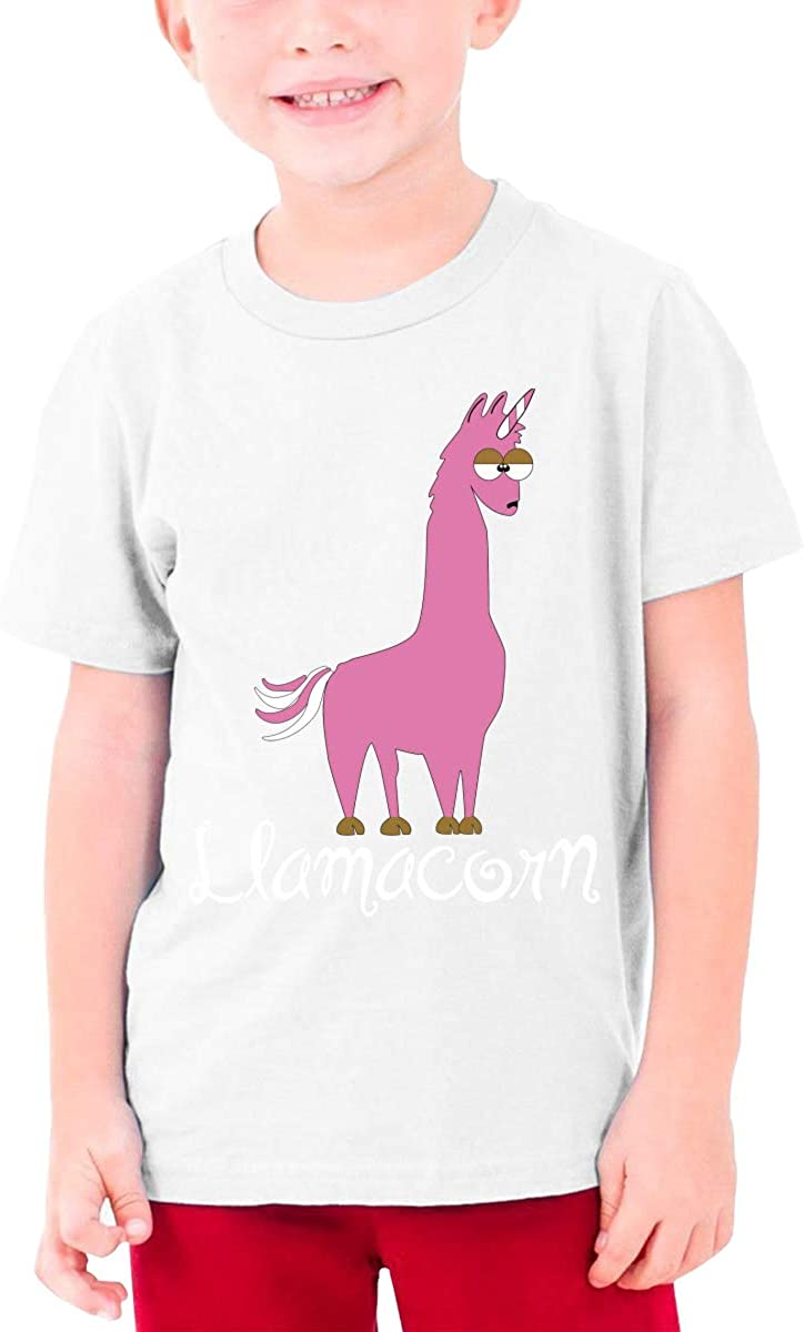 Youth Graphic Tshirts Teenage Boys Girls Short Sleeve T-Shirt Llama Printed Round Collar T Shirt Tees Tops