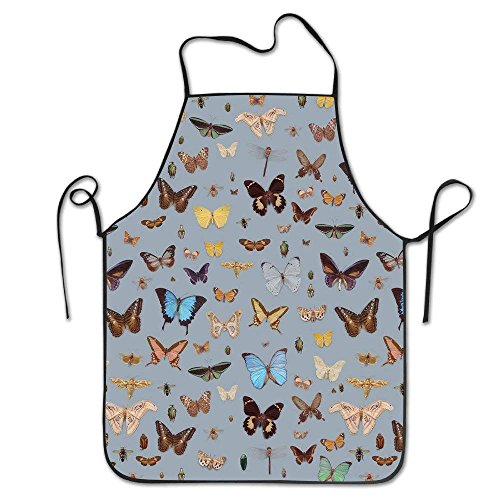 Bikini bag art Floral Bugs And Butterflies Unisex Cooking Kitchen Aprons Chef Apron ()