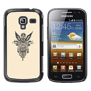 YOYOYO Smartphone Protección Defender Duro Negro Funda Imagen Diseño Carcasa Tapa Case Skin Cover Para Samsung Galaxy Ace 2 I8160 Ace II X S7560M - gasolina libertad motorista nativo americano
