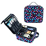 Large Makeup Bag with Brush Holder Travel Makeup Case Cosmetic Bag Deal (Small Image)