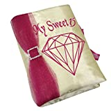 Select From Blush Color Quinceanera Photo Album Guest Book Kneeling Tiara Pillows Bible Q3174 (English Bible)