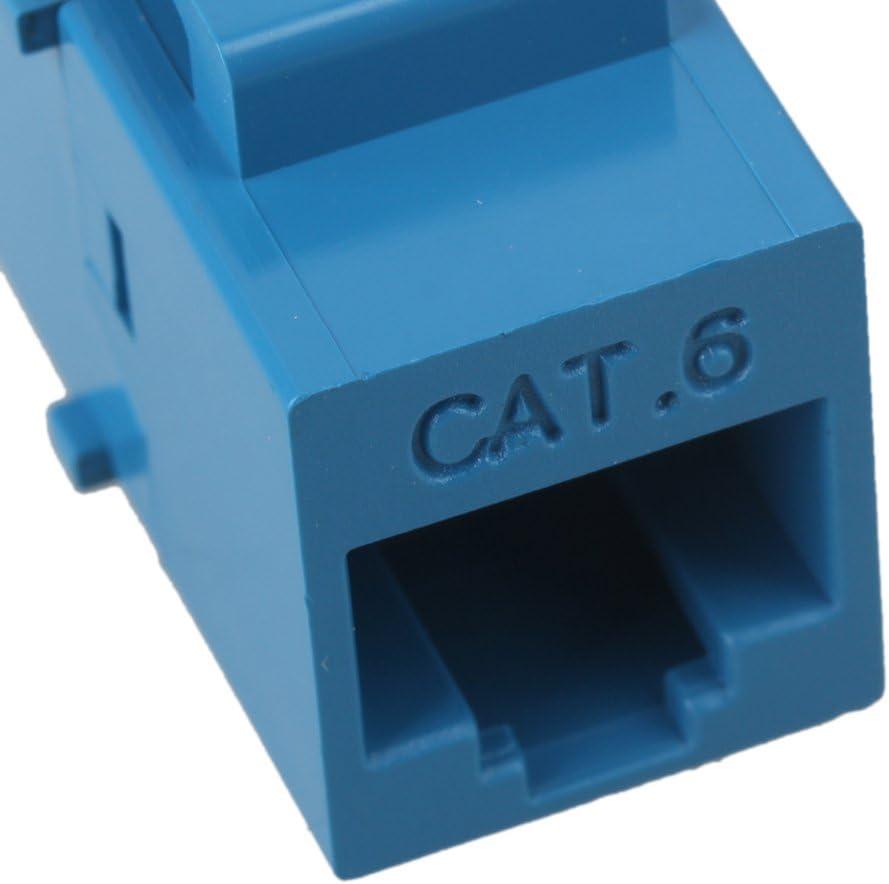 Yibuy 100x Cat6 RJ45 Ethernet Jack Coupler with Keystone Latch Female to Female