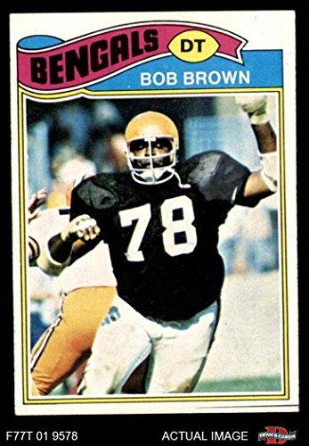 1977 Topps # 491 Bob Brown Cincinnati Bengals (Football Card) Dean's Cards 6 - EX/MT Bengals