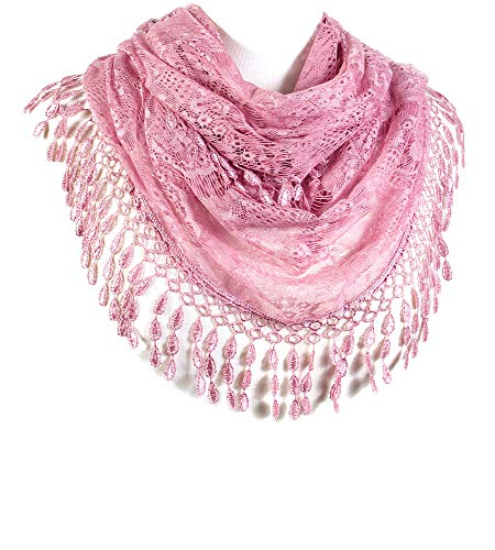 Scarfand#039s Infinity Scarf with Fringe Pink