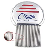 #1 Lice Comb Brush Lice Treatment Professional Stainless Steel Louse Nit FREE Comb for Head Lice Treatment, Removes Head Lice & Nits Eggs Easily Steel Comb Grooves Phthiraptera Platinum Products UMD®