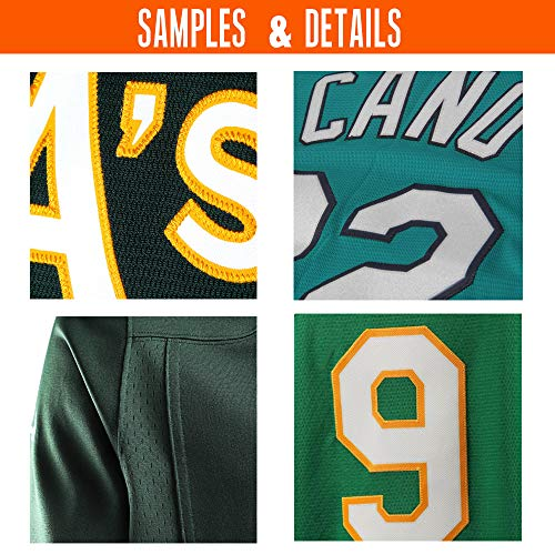 5ab65b700 Custom Green Mesh Replica Football Game Jersey Embroidered Team Name and Your  Numbers