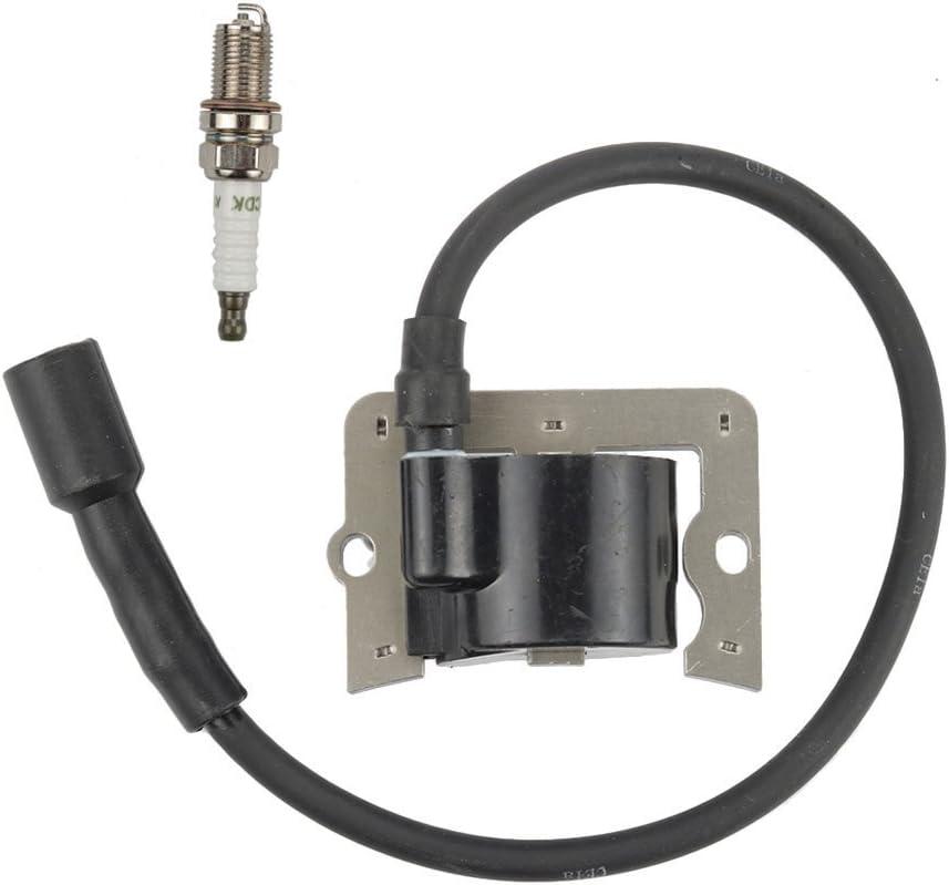 Harbot 12 584 04-S 12 584 01-S Ignition Coil with Spark Plug for Kohler 12 584 01 CH11 CH12.5 CH13 CH14 CH15 CH410 CV11 CV12.5 CV13 CV14 CV15 CV430 CV460 CV461 CV460 CV490 CV491 CV492 CV493