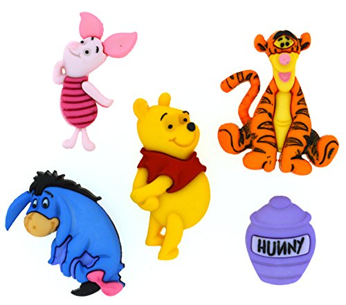 Dress It Up 7729 Disney Button Embellishments, Winnie The Pooh (The Winnie Crafts Pooh)