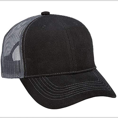 1 Dozen (12) Black/Charcoal Bulk Wholesale Twill/Mesh Trucker Hats by Paynter Enterprises ()
