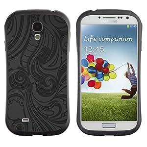 Suave TPU Caso Carcasa de Caucho Funda para Samsung Galaxy S4 I9500 / Grey Pattern Shirt Fabric Pattern / STRONG