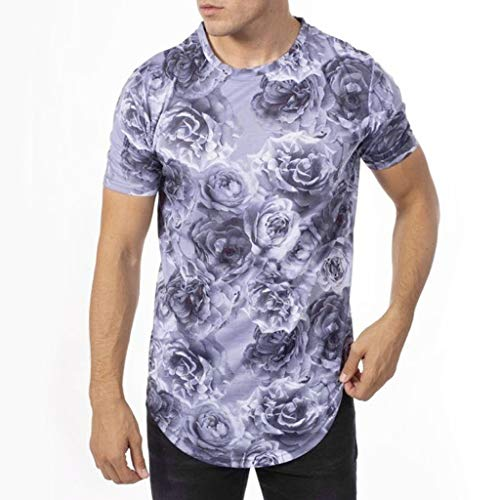 Men's O-Neck Short Sleeve T-Shirts Summer Slim Casual