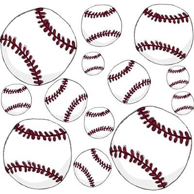 Instant Murals Sports Peel and Stick Wall Stickers Mini Sheet - Baseball