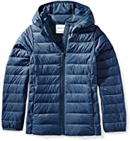Amazon Essentials girls Water-Resistant Packable Hooded Puffer Jacket