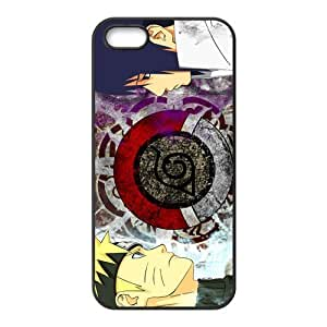 iPhone 5S case - [Anime Naruto Series] case for Apple iPhone 5 5S case rubber TPU cover case (Black/white)
