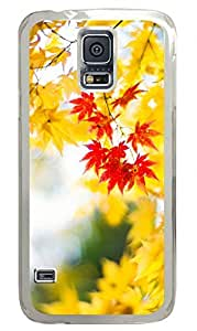 Maple Leaf 3 Clear Hard Case Cover Skin For Samsung Galaxy S5 I9600
