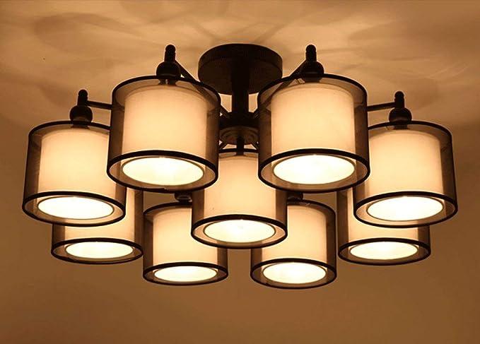 Lámparas de techo, cubierta de tela de hierro Hotel Family ...