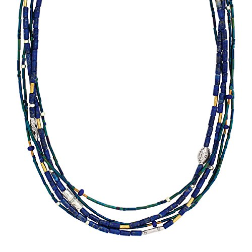 Silpada 'Into the Blue' Sterling Silver, Lapis, and Quartz Necklace, 18+2.5