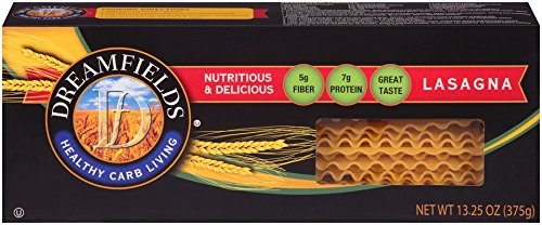 Dreamfields Pasta Healthy Carb Living, Lasagna, 13.25-Ounce Boxes (Pack of 12)