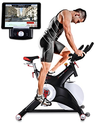 Sportstech Professional Indoor Cycle SX500 with Smartphone App Control + 25KG Flywheel, Arm Support, Pulse Belt Compatible – Speedbike in Studio Quality with SPD Click System