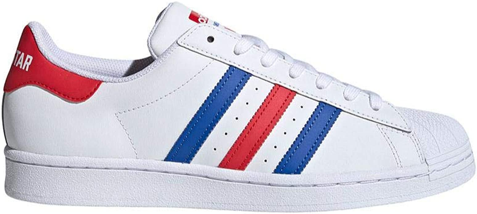adidas superstar bande rouge et bleu