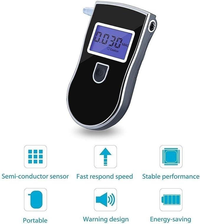 Portable Digital Alcohol Analyzer Detector Test Tool LCD Display Breathalyzer with Backlight Gizayen Alcohol Tester Professional Semi-conductor Sensor Portable Breathalyzer Kit