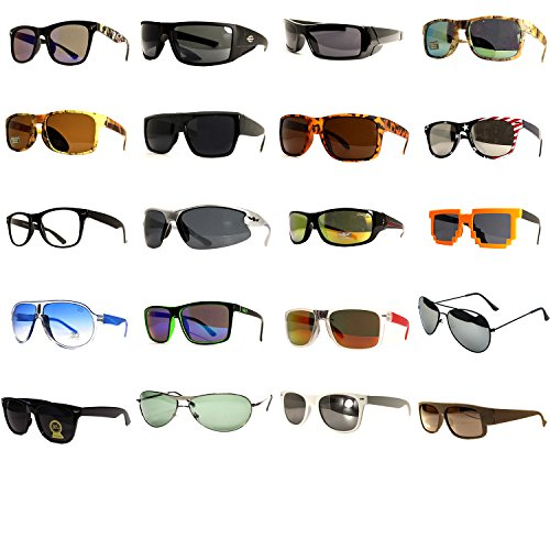 24-Pairs-Unisex-Fashion-Designer-Retro-Vintage-UV-100-WHOLESALE-LOTS-SUNGLASSES