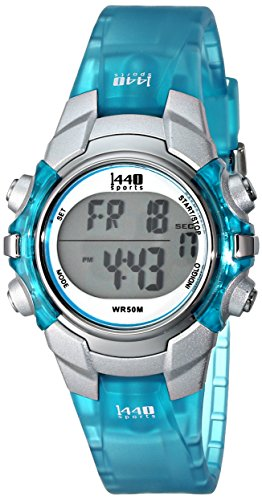 Timex Women's T5K460 1440 Sports Blue Resin Digital Watch
