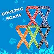 ICE Cool Scarf Neck Wrap Cooling Scarf, inflated in 8-10 mins on Soaking in Water. for Golf, Outdoor, Walking,