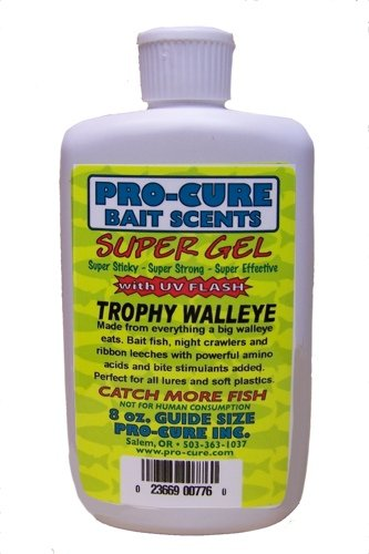 Pro-Cure Trophy Walleye Super Gel, 8 Ounce (Trophy Spinner Sport)