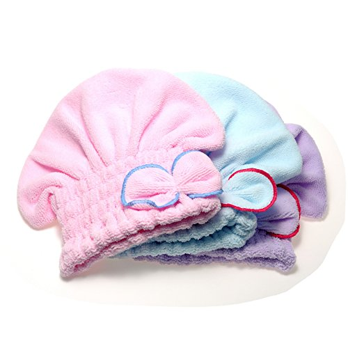 Skuleer(TM)Useful Home Textile Hair Quickly Dry Hat Microfiber Hair Turban Wrapped Towel 3 colors