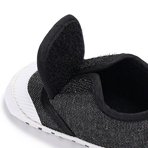 88a08e6f8da8 ... Clode® Baby Schuhe Jungen Mädchen neugeborene Krippe weiche alleinige  Schuhe Turnschuhe Dark Gray