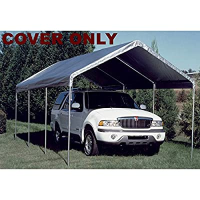 King Canopy Drawstring Cover 10x20 Silver : Outdoor Canopies : Garden & Outdoor