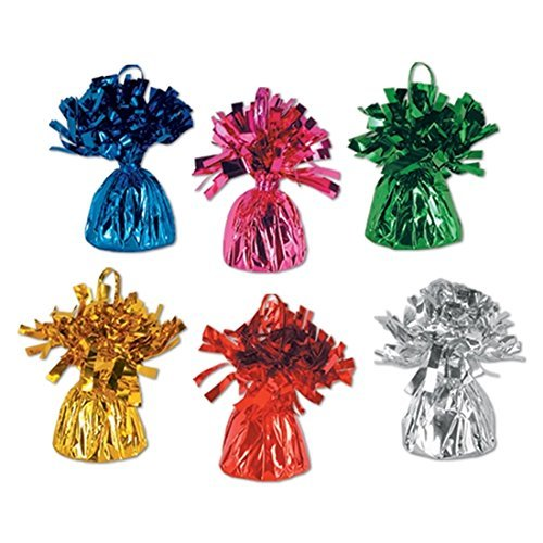Metallic Balloon Weights Centerpieces Assorted product image