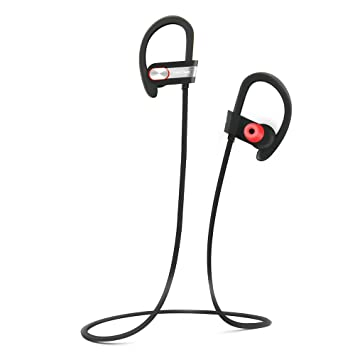 TRITINA Sports Auricular Bluetooth Micrófono Incorporado, inalámbrico Sweatproof con Espuma de Memoria Auriculares Sonido estéreo para Correr, ...