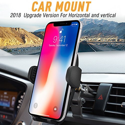 Price comparison product image Car Mount / Car Holder,  Bvenko Phone Mount / Car Phone Holder For Universal Cell Phone Cradle with Gravity Self-locking Design and Anti-skid Base for iPhone X / 8 / 7Plus / 6, Galaxy S8, Google, LG, HUAWEI etc