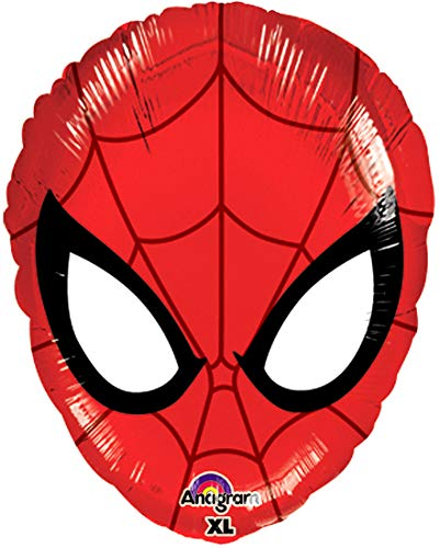 """Award Winning 17"""" SPIDERMAN HEAD Anti-Gravity Balloons Hover & Drift in Mid-Air with """"NO STRINGS ATTACHED""""! FUN for all AGES! Includes Weights for Easy Height Control. The """"HIT"""" of the PARTY!"""