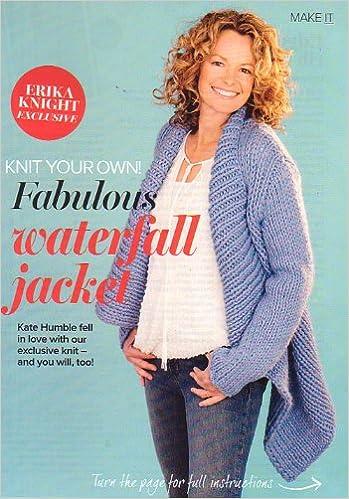 Prima Erika Knight Knitting Pattern Womens Waterfall Edge To Edge