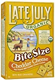 Late July Organic Cheddar Cheese Crackers, 5 oz