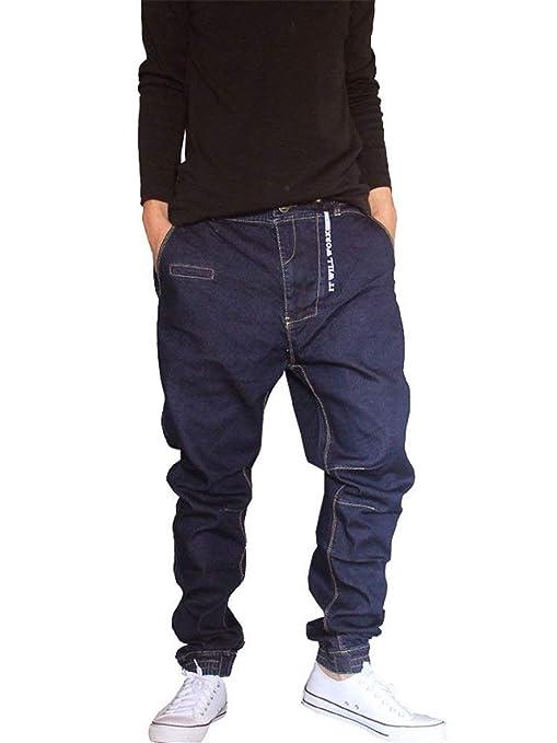 1c67c3a9dde8c Hip Hop Estilo Hipster De Hombres Pantalones Vaqueros Los Rap Ropa De Mezclilla  Pantalones Harén Streetwear Vaqueros De Moda Pantalones Pantalones Casuales  ...