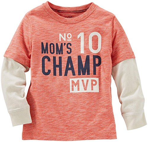 OshKosh B'Gosh Boys' Graphic Tee 21052311, Moms Champ, 2T