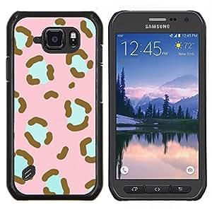 Stuss Case / Funda Carcasa protectora - Modelo rosado del trullo Piel animal - Samsung Galaxy S6 Active G890A
