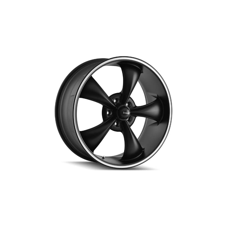 Ridler Style 695 Matte Black Wheel with Machined Ring (20x8.5/5x114.3mm)